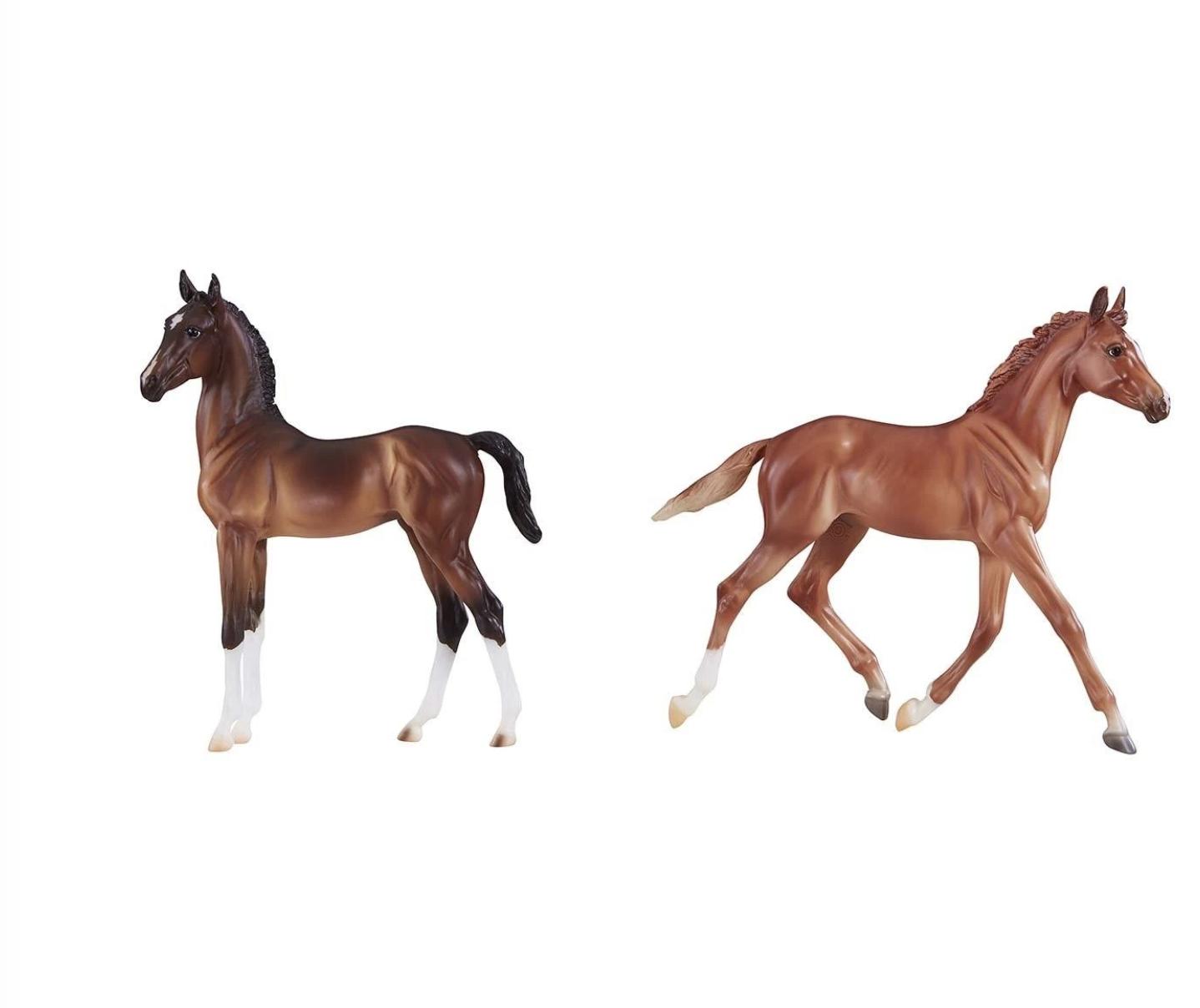Breyer Horse Thoroughbred And Hackney Foals Sporthorse Saddlery